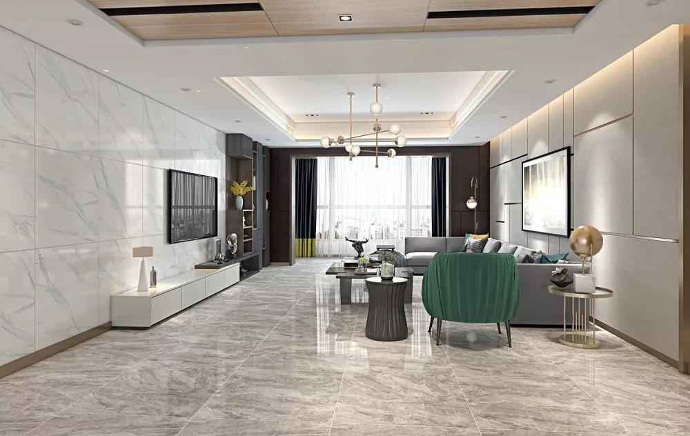 神韵磁砖,高颜值家居空间,用灰色调演绎高级感